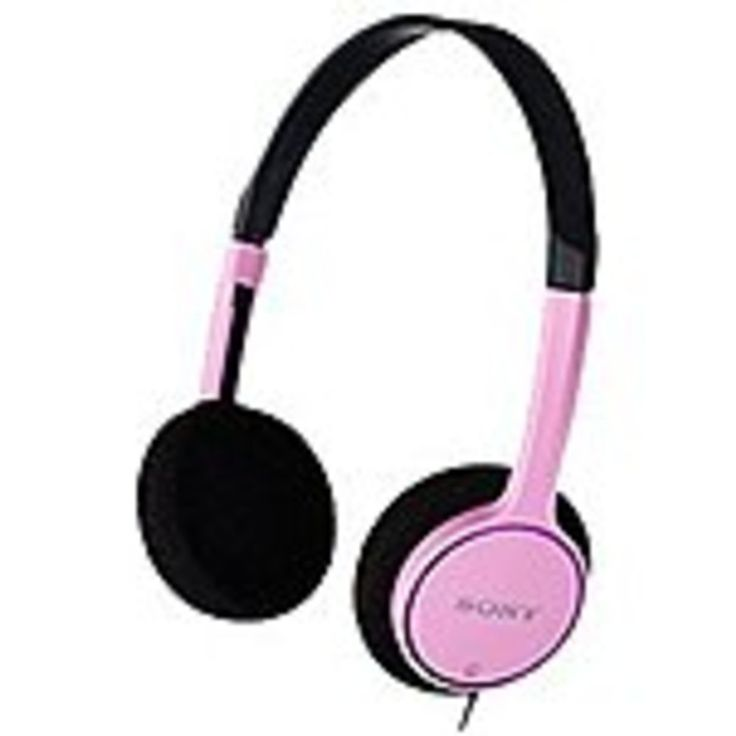 Sony MDR-222KD/PIN On-ear Kids Headphones - Wired - Dynamic - Stereo - Pink
