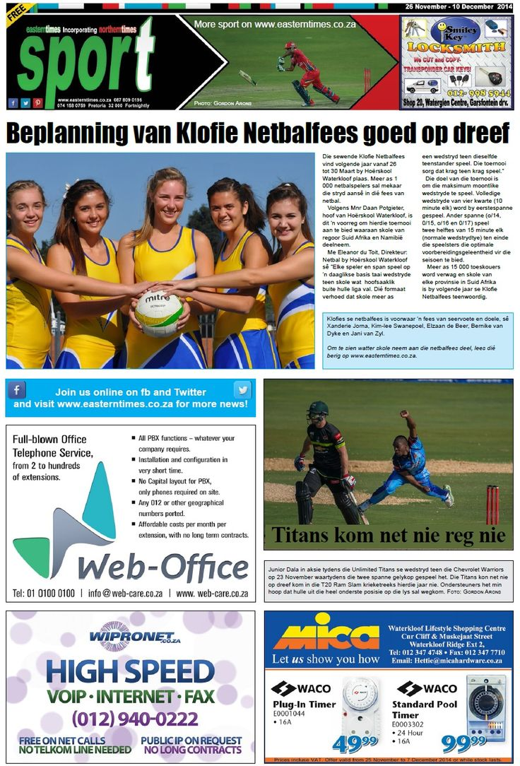Sport page 26 Nov - 10 Dec