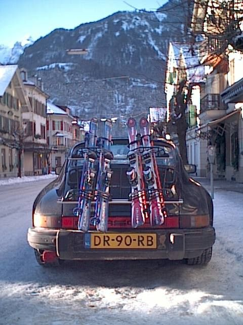 How about a Porsche for your skis #fashion #helmethuggers