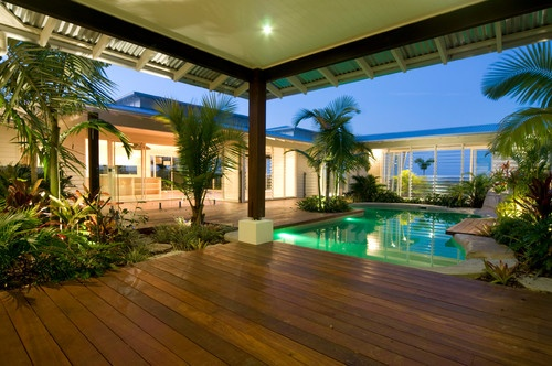 Summit house tropical pool landscape ideas pinterest for Pool design brisbane