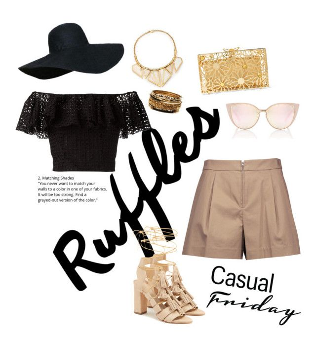 """""""Summer Friday"""" by kayla-naomi on Polyvore featuring A Peace Treaty, Philosophy di Lorenzo Serafini, Loeffler Randall, Charlotte Olympia, 3.1 Phillip Lim, Amrita Singh, paradise, summerstyle, nude and top"""