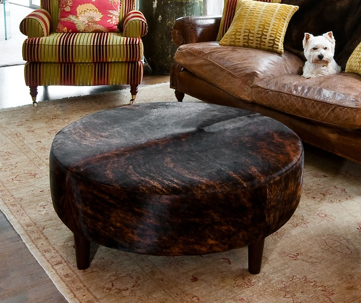 Furniture Legs For Ottomans 69 best cowhide ottomans & furniture images on pinterest