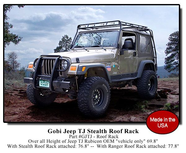 Gobi Jeep Wrangler TJ Stealth Recon Roof Rack