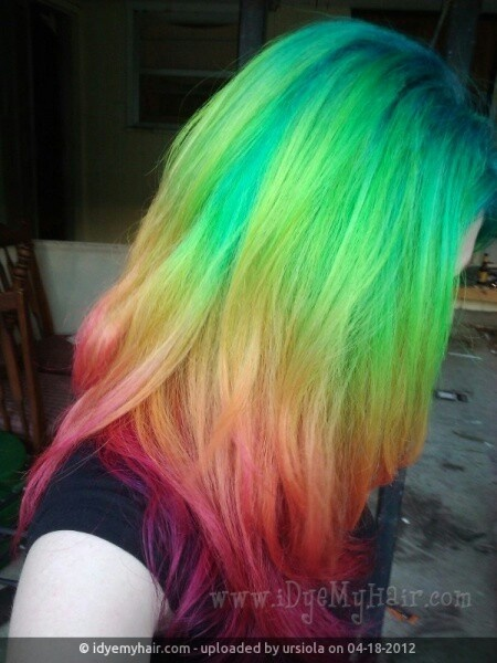Rainbow ombre haor color | white girl wasted(colorful hair ...