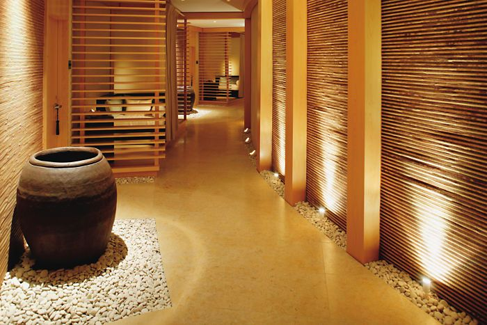 This tranquil corridor is your path to relaxation at The Spa at Elbow Beach. Pin provided by Elbow Beach, Bermuda: http://www.mandarinoriental.com/bermuda/luxury-spa/