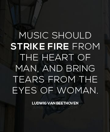 Beethoven's quote on the importance of powerful music.