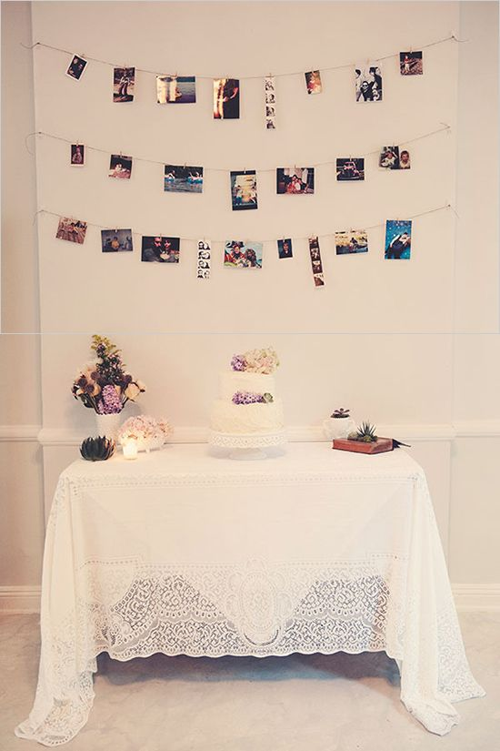 wedding cake table (or  for any sort of party)