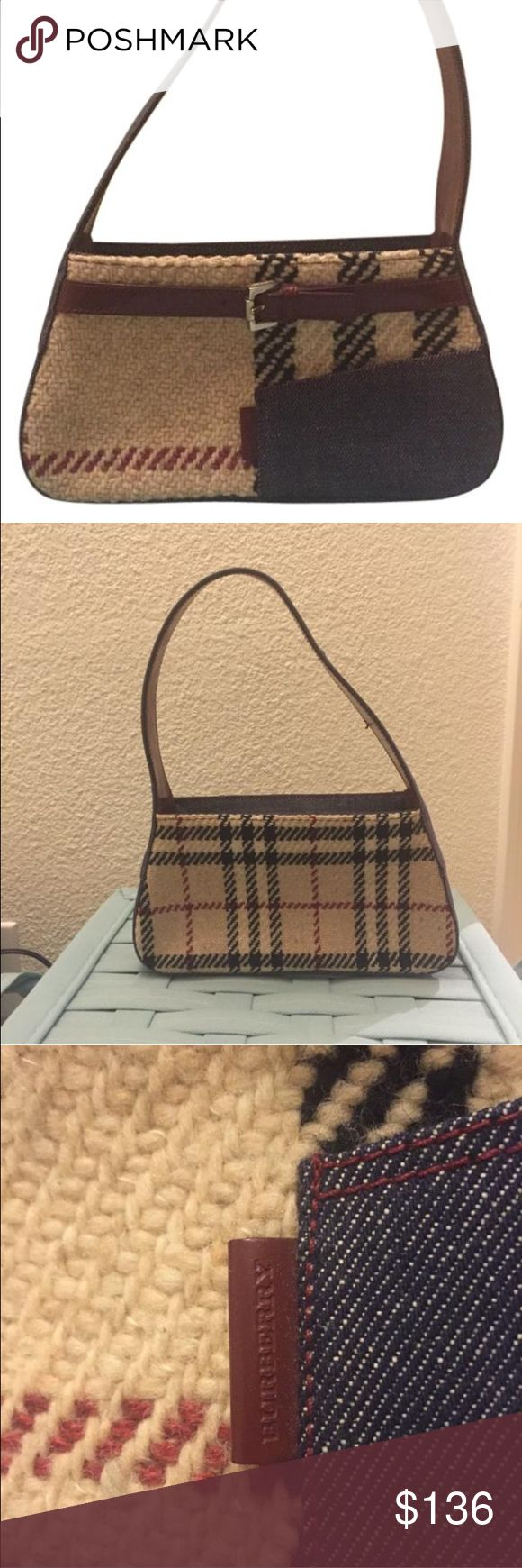 Burberry Wool. Mini shoulder bag. Authentic. Great for winter fall season! Burberry Bags Mini Bags