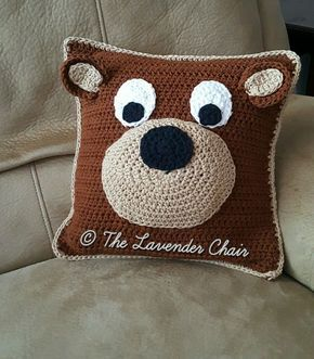 Teddy Bear Pillow - Free Crochet Pattern - The Lavender Chair