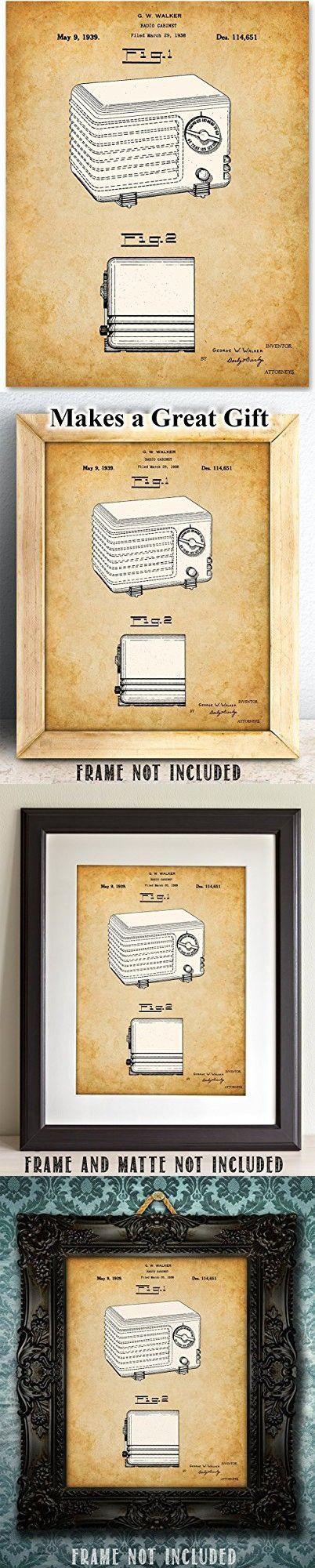 Retro Radio Patent- 11x14 Unframed Patent Print - Great for Retro Home Decor