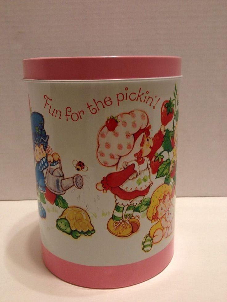 Vintage Strawberry Shortcake Tin Canister 1982 Cheinco