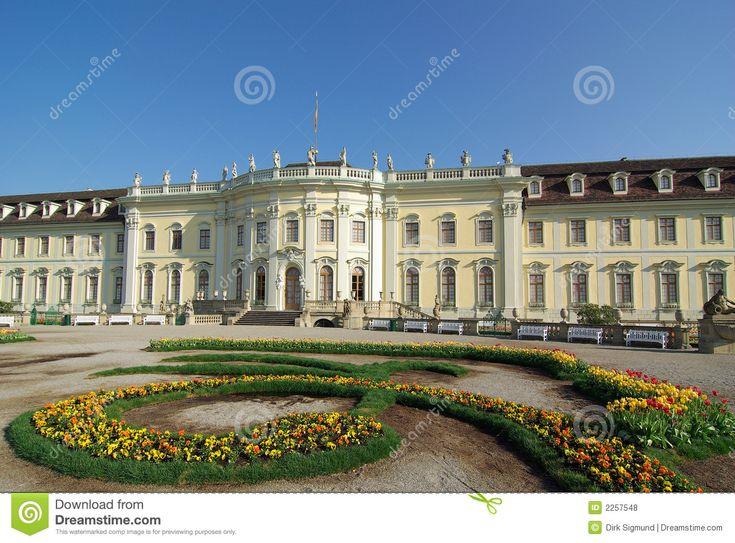 schloss ludwigsburg | Barockes Schloss Ludwigsburg gründete 1704, Ludwigsburg, Deutschland.