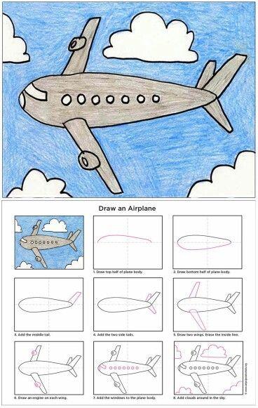 tekeningen vliegtuig