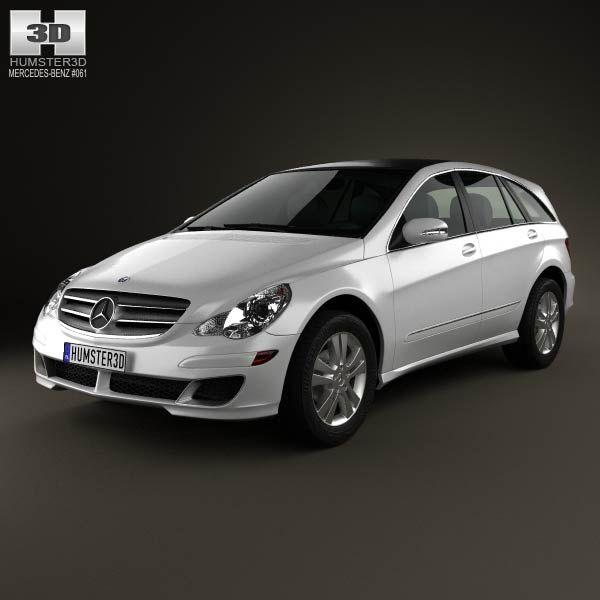 3D model of MercedesBenz RClass (W251) 2006 Chevrolet
