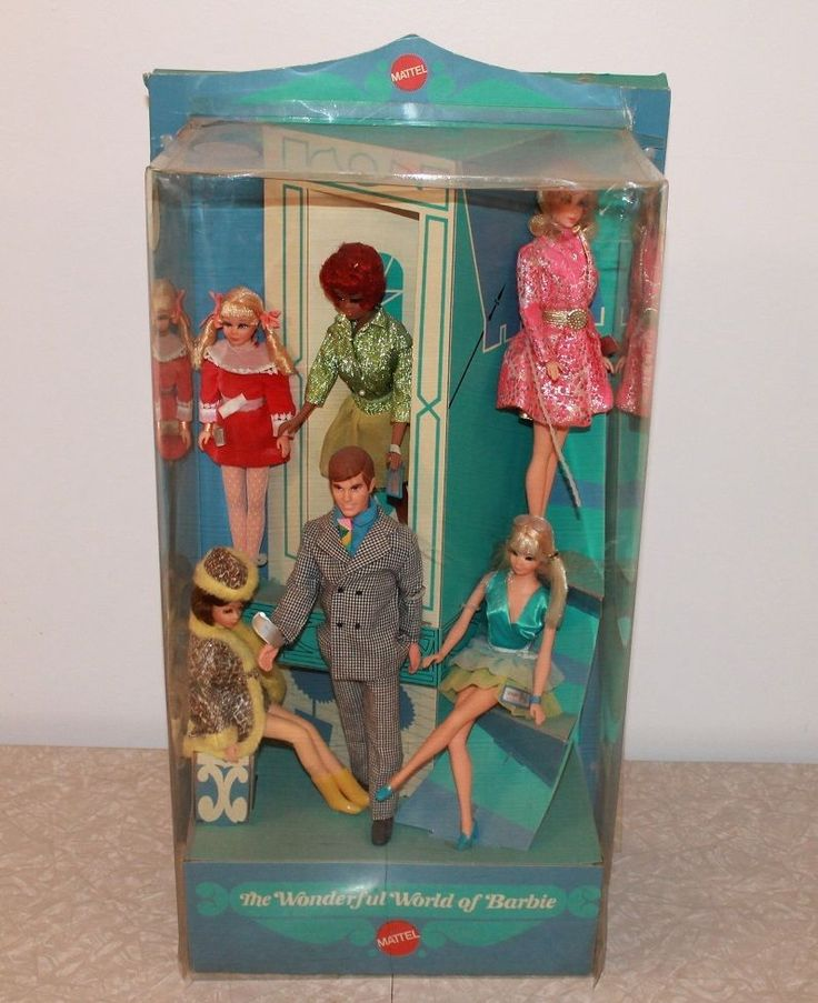 RARE Find Vintage 1970 Mattel Barbie Toy Store Counter Top Display | eBay I got one of these for Christmas 1969. It had 2 Francies and two Caseys. Of course, I was only 6 years old and opened it right up and played with them for years!