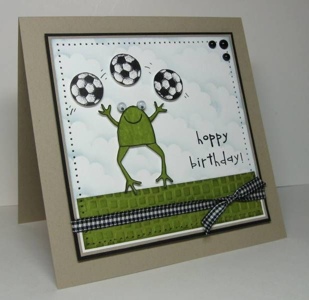 33 best soccer cards images on pinterest boy cards kids cards and this is a fun birthday card for my five year old newphew caleb he loves playing soccer so i had to break out my fave stampin up set m4hsunfo