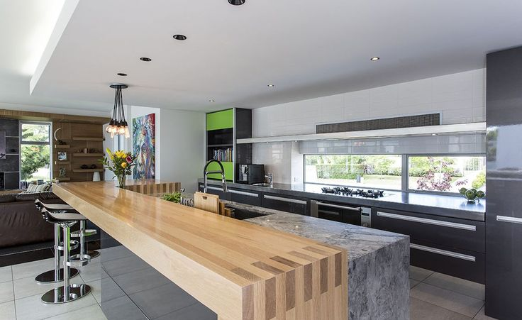 split level kitchen bench top