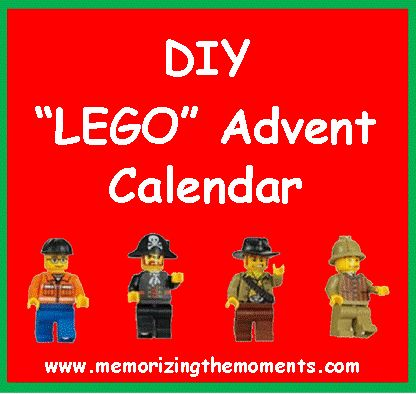 """DIY """"Lego"""" advent calendar for half the cost of the official ones, plus better pieces."""