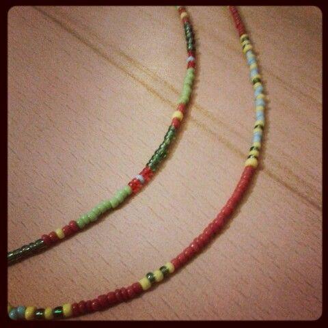 Necklace of beads like Miyuki seeds. ..