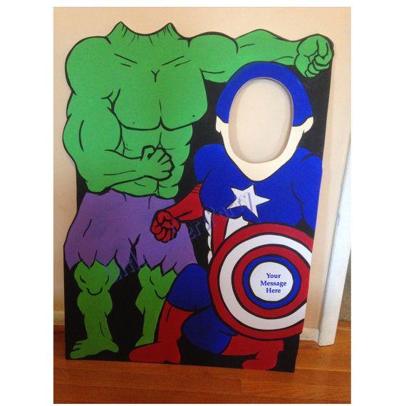 Superhéroe personalizado Duo foto Prop. por LittleGoobersParty
