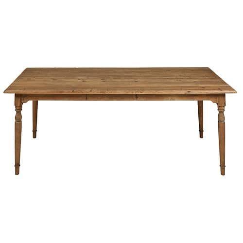 Tisch aus recyceltem Kiefernholz in gealterter Optik L.220cm