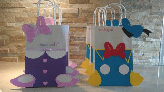 Donald and Daisy Duck goodies bags set of 12 by mariscraftingparty