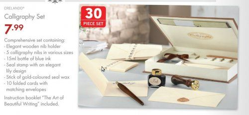 Lidl calligraphy set. Brilliant set- cheap- easy to use- lovely Christmas gift.