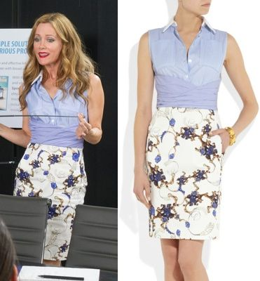 The Other Woman movie: Kate King's (Leslie Mann) mixed combo Altuzarra Nina Dress #getthelook #lesliemann #theotherwoman