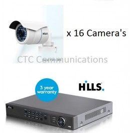 Hills IP CCTV Kit 16Channel with 16 Bullet camera's 3 Megapixels