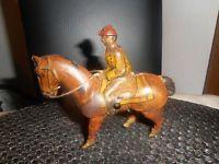 Antikes Blechspielzeug Pferd mit Jockey Germany K 900 - Pferd II