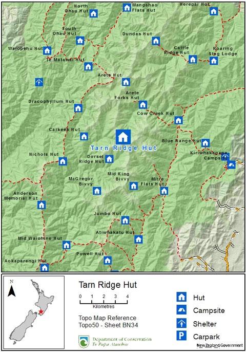 Wairarapa, Tarn Ridge Hut