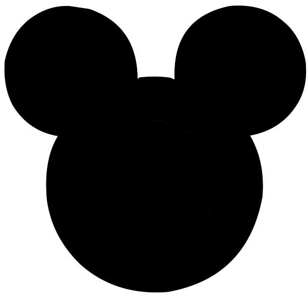 black and white mickey silhoettes | Mickey head template