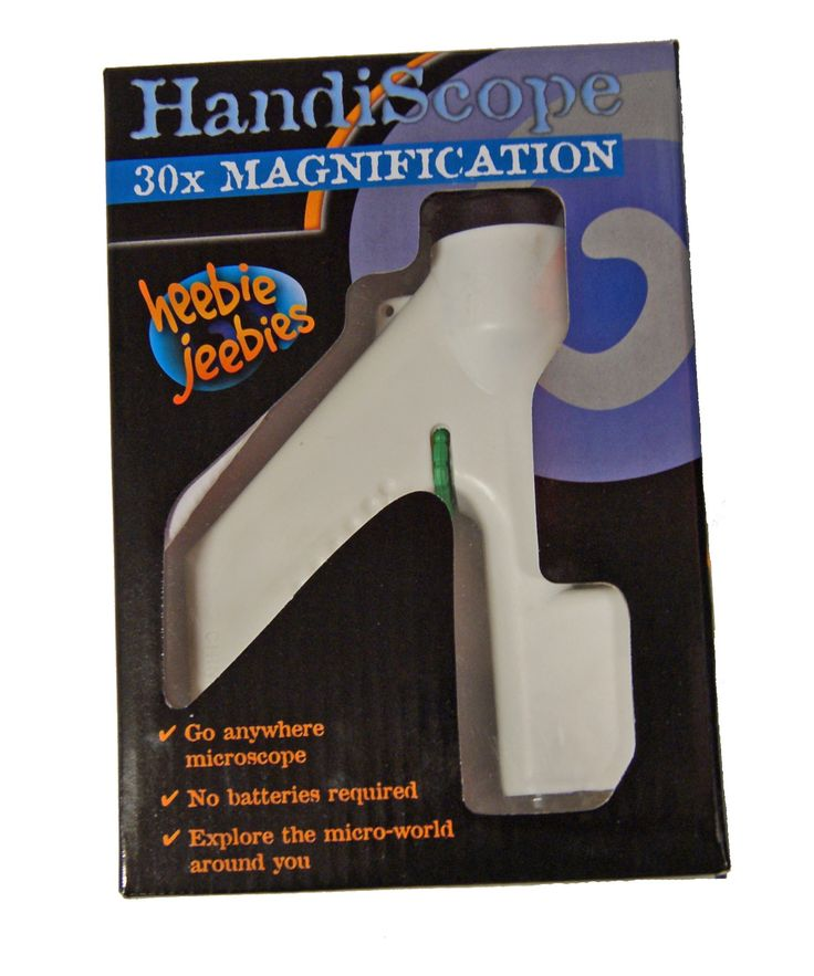 Heebie Jeebies - HandiScope Handheld Microscope - wish I'd had one of these when I was little  #EntropyWishList #PinToWin