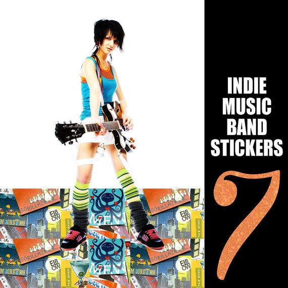 Indie Music Band Stickers, Black Keys, Band of Horses, Local Natives, Bon Iver, Cold War Kids, Mumford & Sons, Passion Pit, Rara Riot