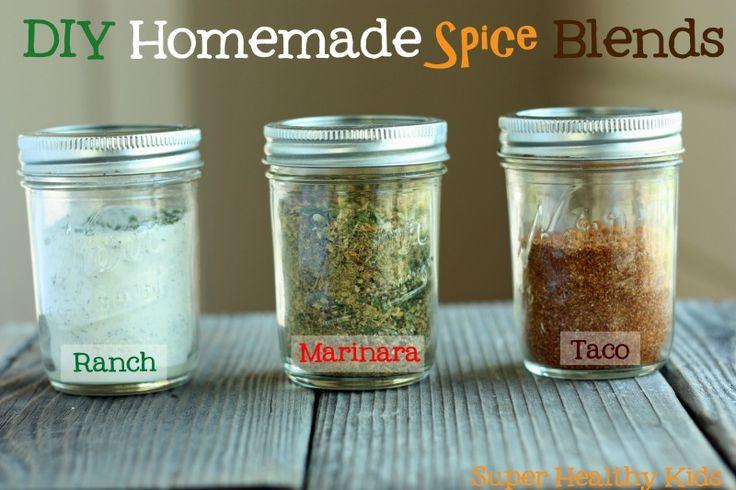 DIY Homemade Spice Blends Marinara and Taco syn free.