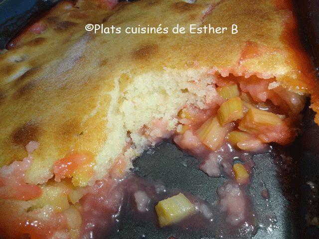 Les plats cuisinés de Esther B: Pouding à la rhubarbe