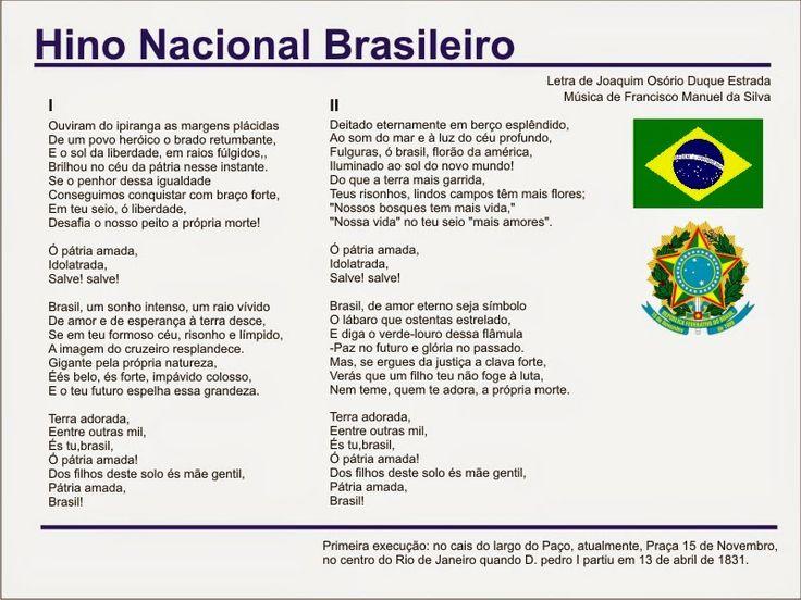 13 de Abril ♦ Dia do Hino Nacional Brasileiro - Senhora Inspiração!