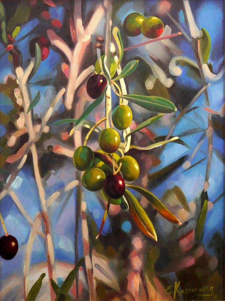 Olive branch | Original Oil Canvas Art | Classic Painting on Canvas | Realism Art | Nature art | Landscape | Hand Painted | original artwork by OliviaArtGallery on Etsy