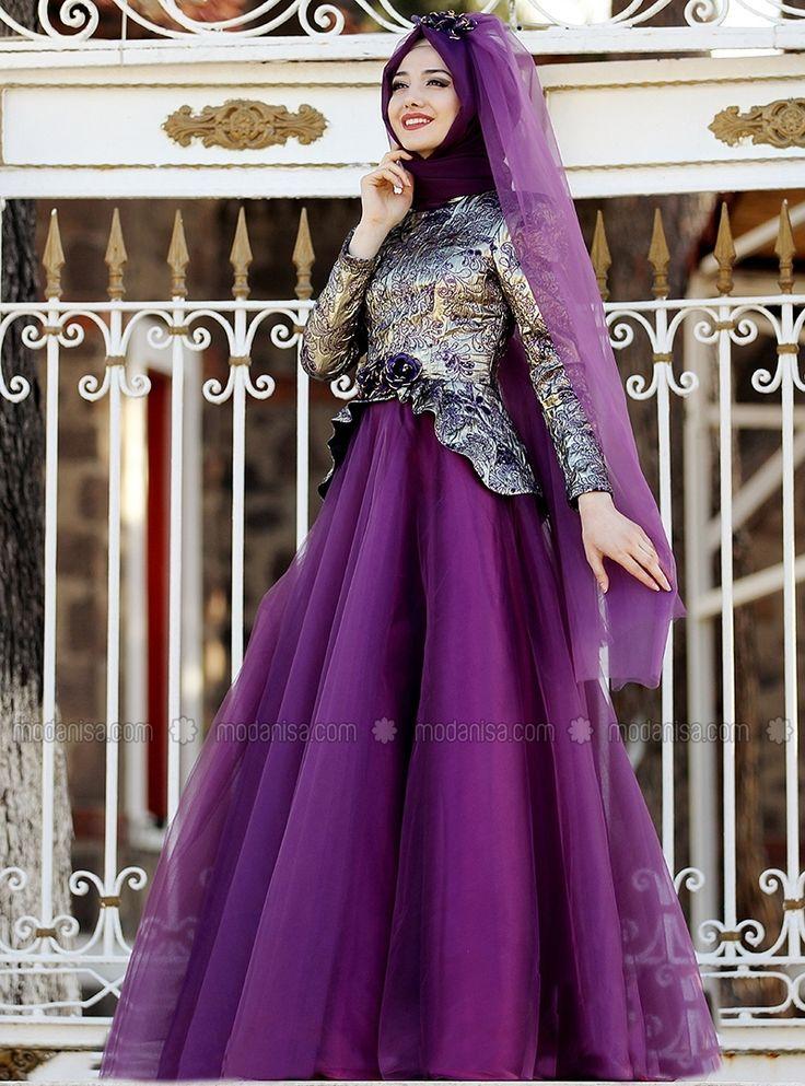 Scheherazade Evening Dress - Purple - Gamze Polat