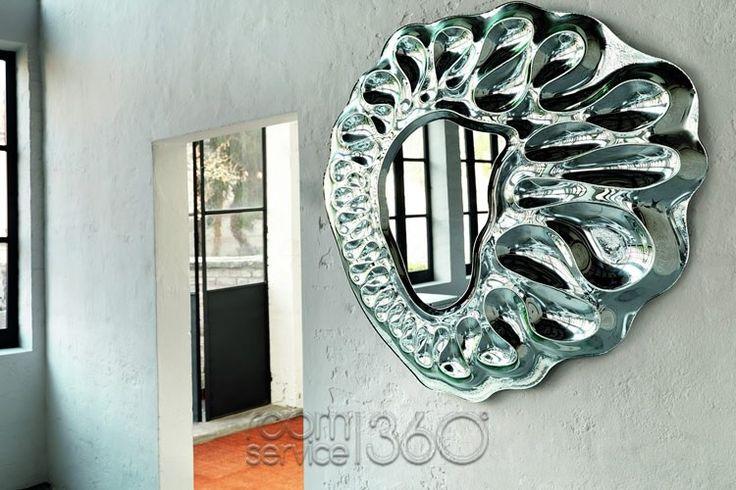 Caldeira Round Mirror by Xavier Lust for Fiam Italia
