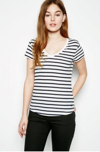 This T is perfect with its perfectly proportioned stripes and slight V neck  Striped T-shirt - Jack Wills £34.50