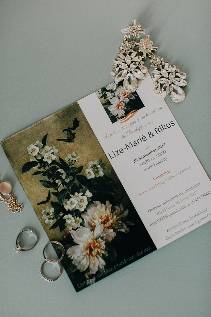 Love love love this unique floral tapestry wedding invitation!