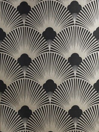 art deco wallpaper | WS128 Wallpaper - Art Deco - Geometric Fan Motif - Surrey
