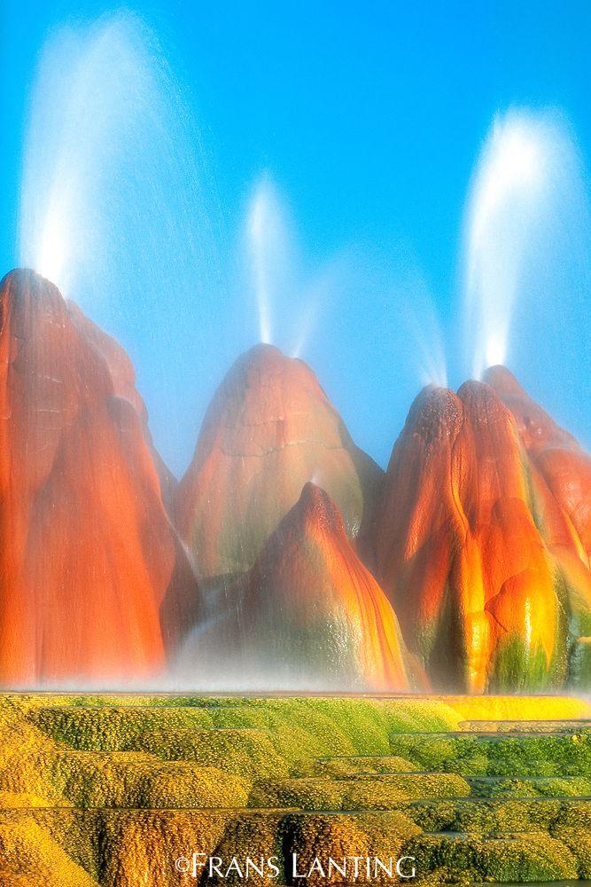 Spewing Geysers Great Basin Nevada Wnimѕu ѕah U Geyser Fly Geyser Great Basin