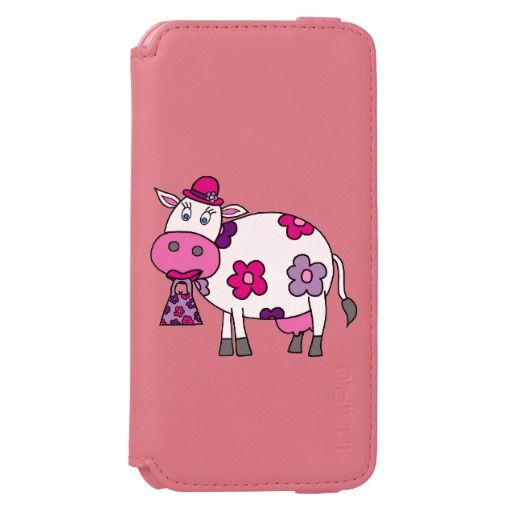 Pink Daisy Cow Incipio Watson™ iPhone 6 Wallet Case