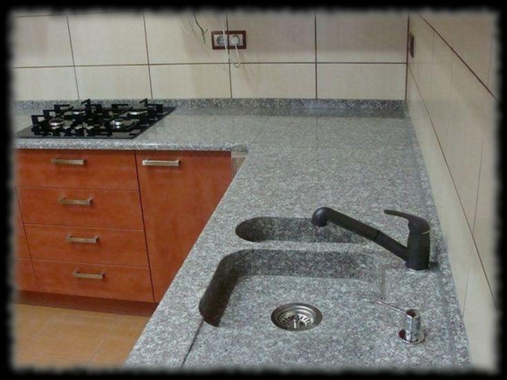 Épületmunkák - gránit konyhapult