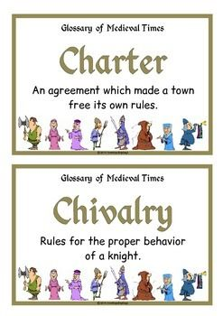 A set of 28 printables that is a glossary of medieval times/ middle ages. Each page has a key word heading, making this set great for discussion, activities and displays for this historical topic. Visit our TpT store for more information and for other classroom display resources by clicking on the provided links.