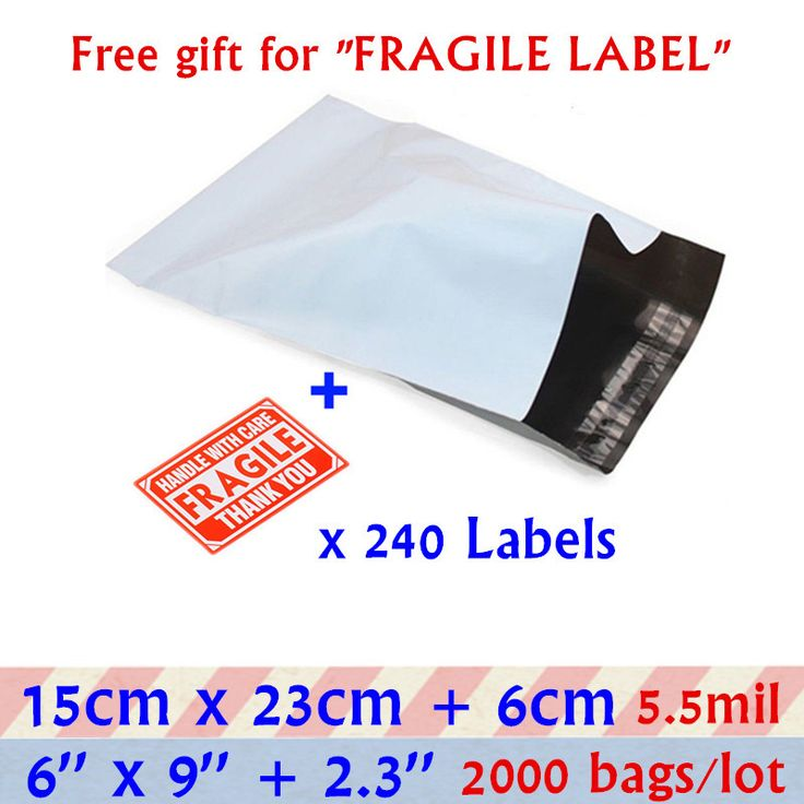 15x23cm White Small Packaging Shipping Envelope Bag  6X9''Gray Self-seal Adhesive Poly Mailer Plastic Envelopes Mailing Bags  #Affiliate