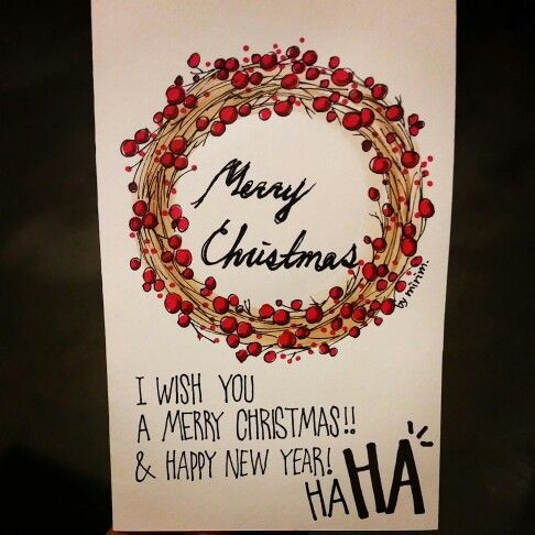christmas cards by mirim. watercolor