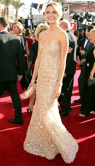 Mischa Barton went glam in Oscar de la Renta at the 2005 Emmys